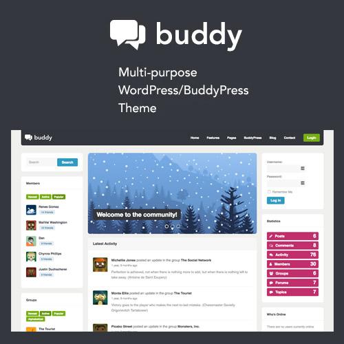 Buddy: Simple WordPress & BuddyPress Theme – WP-Tools.com